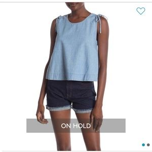 NWT Madewell Chambray Crop Swing Tank